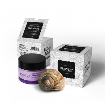 PRIODY - Regeneration Night Cream with purified snail extract
