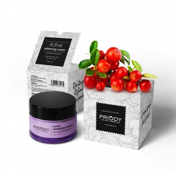 PRIODY | Active whitening cream with arbutin & kojic acid